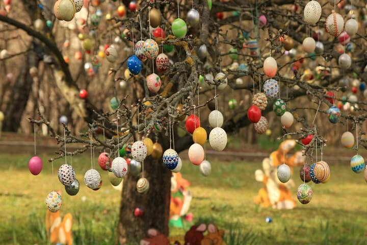 easter eggs tree germany
