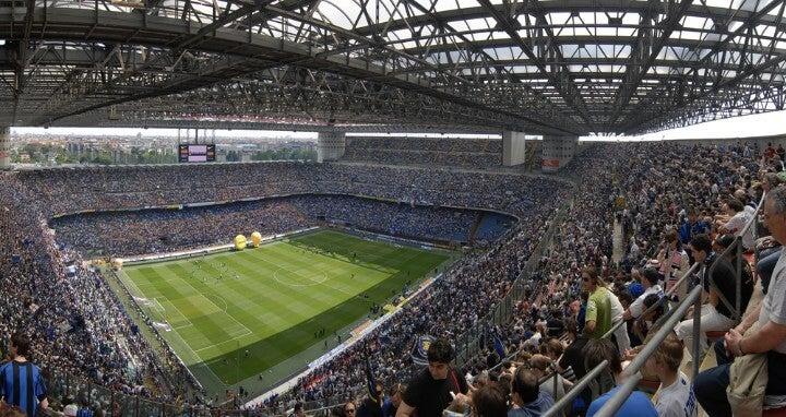 san siro stadium in milan - italy