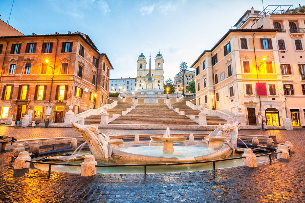 Visit Rome and see the Spanish steps