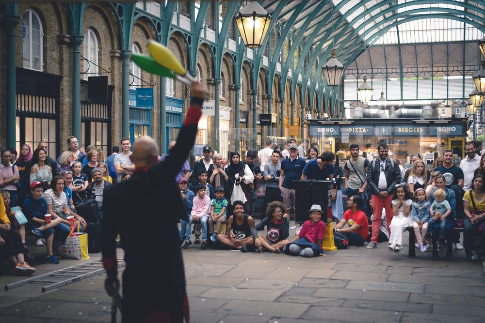 Performer in Covent Garden