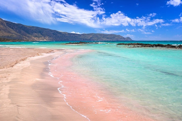 Elafonissi pink beach in Greece