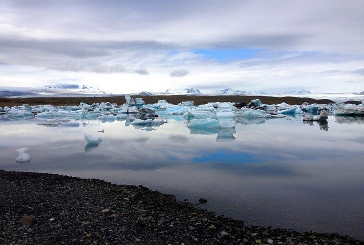 Jökulsárlón glacier lake in Iceland