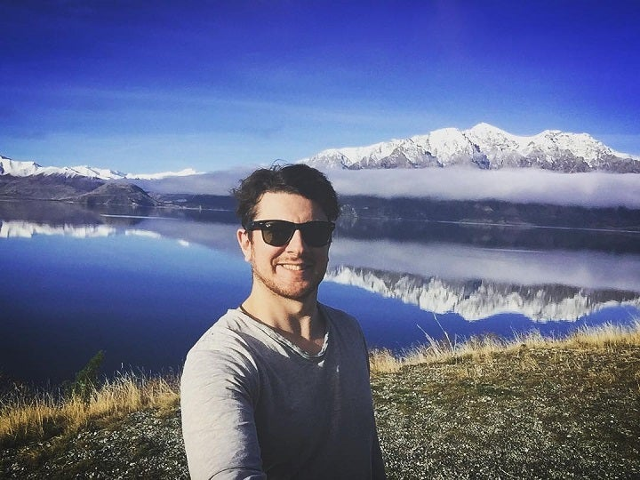 Tommy Walker at Lake Hāwea in New Zealand