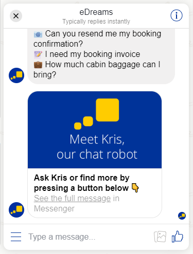 kris-edreams-chatbot-customer-service