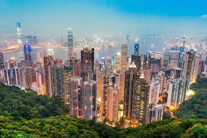 hong kong vistas de la ciudad