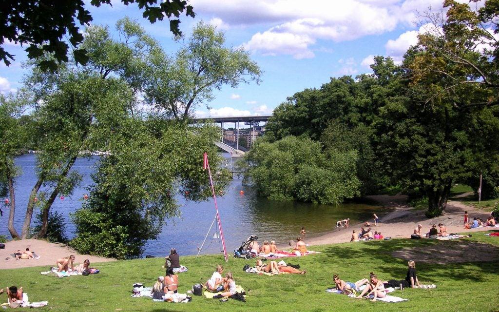Långholmsbadet beach in Stockholm