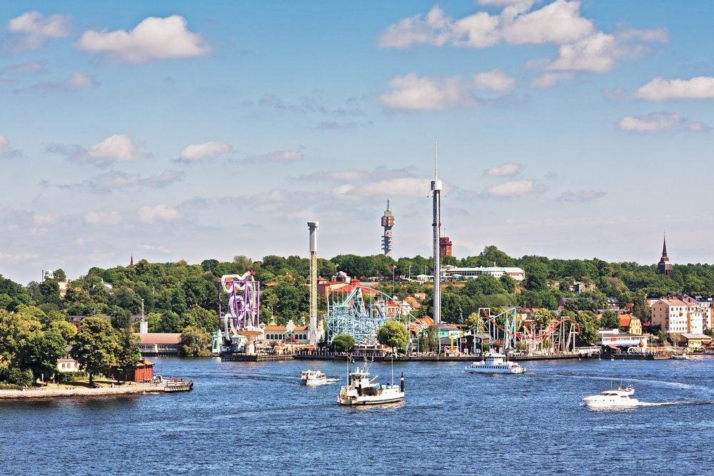 Gröna Lund amusement park on Djurgården island