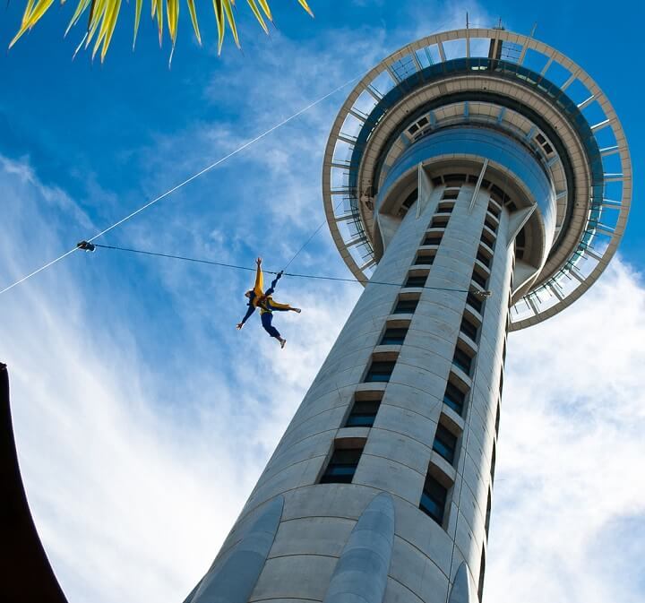 skytower in auckland - new zealand