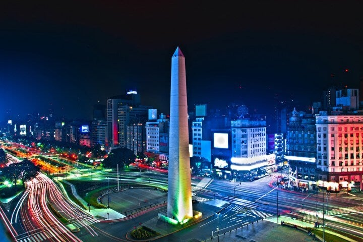 buenos aires view by night - argentina