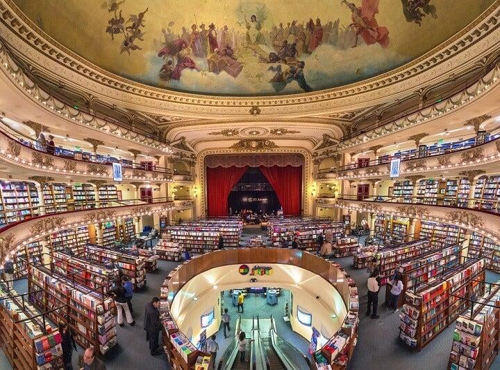 el ateneo theatre book store in buenos aires - argentina