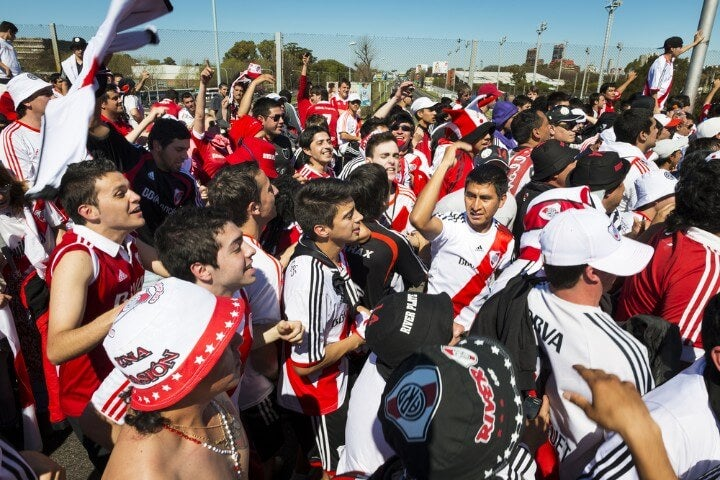 river plate fans in buenos aires - argentina