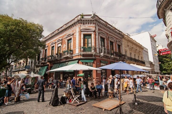 san telmo market in buenos aires - argentina