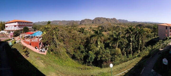 viewpoint at Los Jazmines Hotel at viñales in cuba