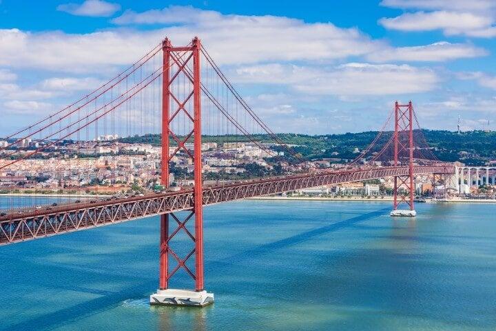 25 april bridge in lisbon - portugal