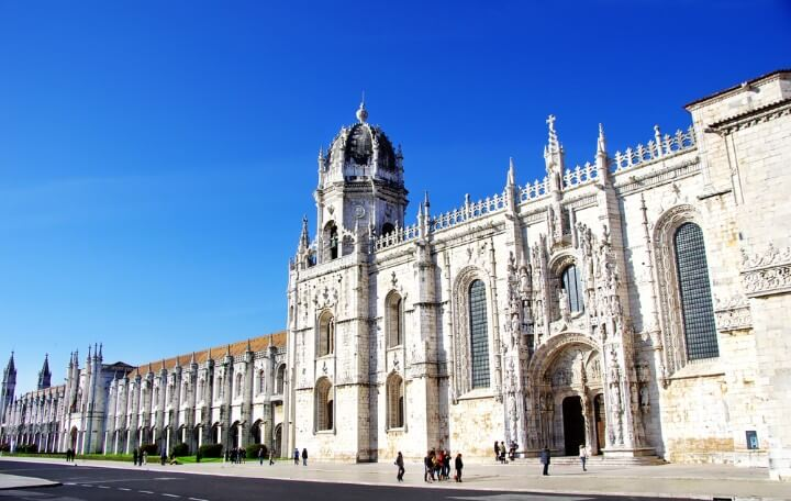 Jeronimos old Monastery in lisbon - portugal