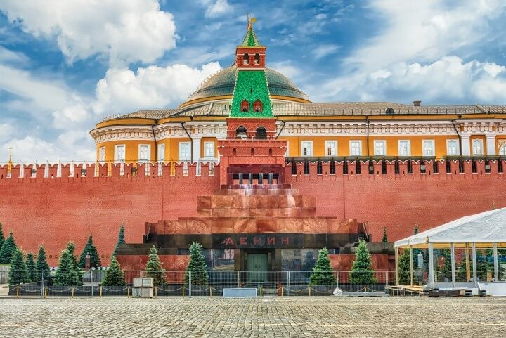 Lenin's Mausoleum - Vladimir Lenin in the center of Red Square in moscow