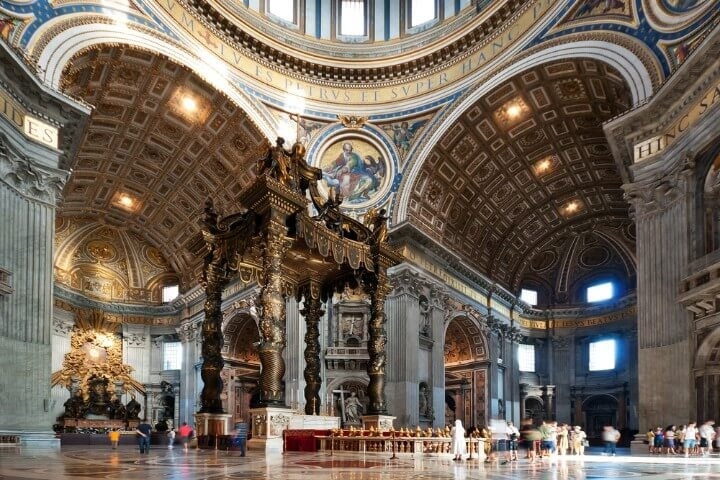 St Peter's Basilica inside - in rome - italy