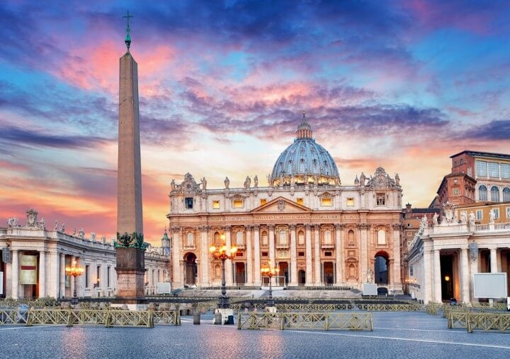 St Peter's Basilica outside - in rome - italy 1