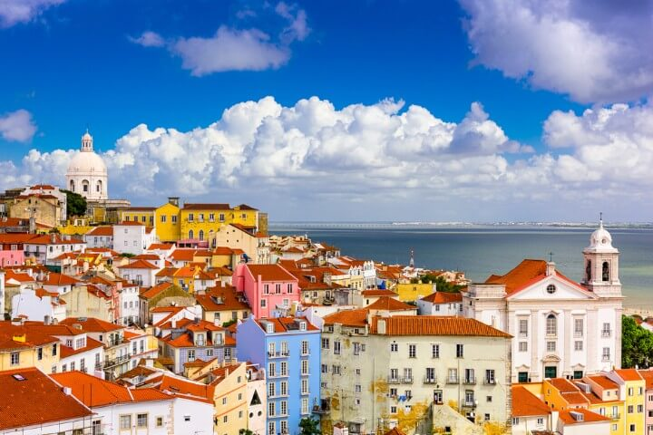 alfama district in lisbon - portugal