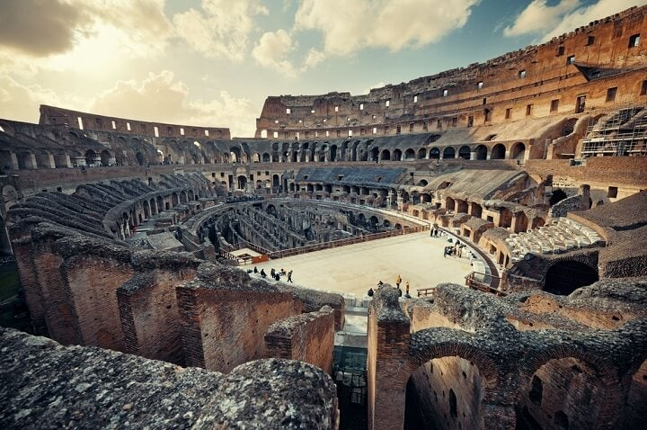 colosseum in rome _ italy