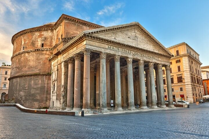 pantheon in rome - italy