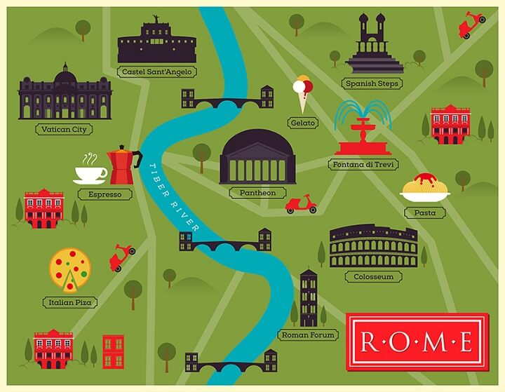 rome illustration italy