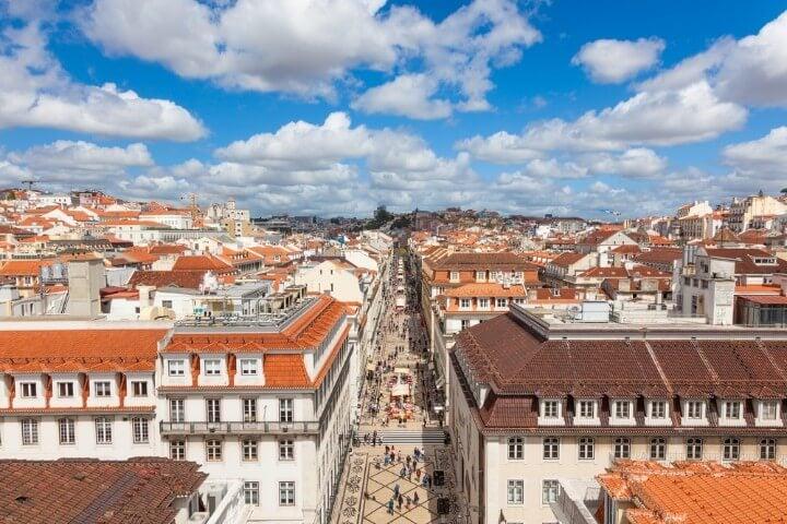 rua augusta in lisbon - portugal