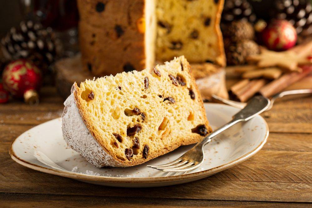 Traditional desert from Milan: Panettone