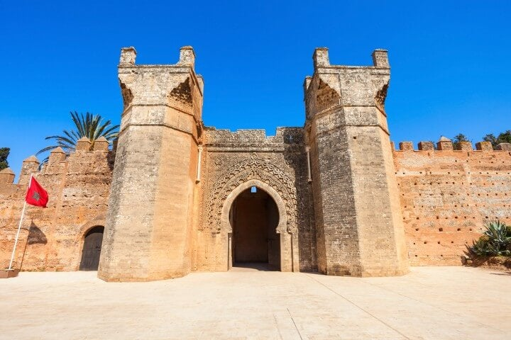 Chellah entrance gate in rabat - morocco