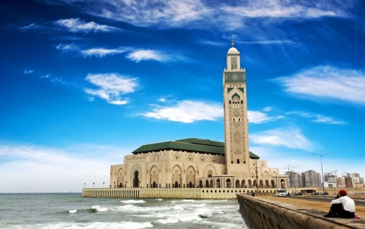 Hassan II Mosque view in Casablanca - morocco