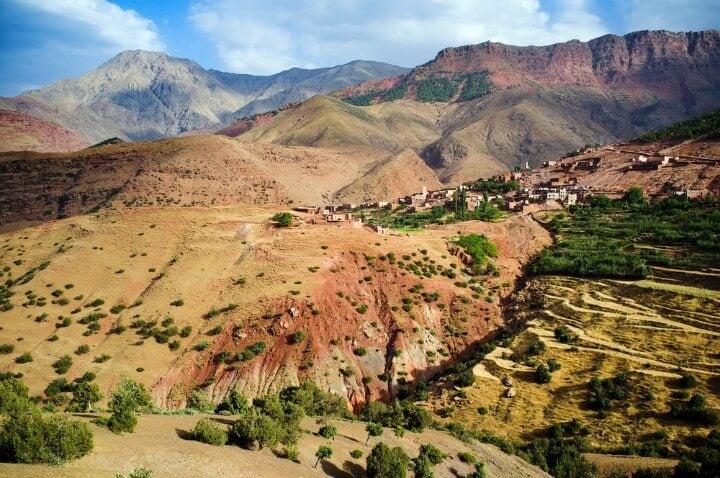 High Atlas in Morocco