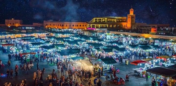 Jemaa el-Fna market in marrakech - morocco