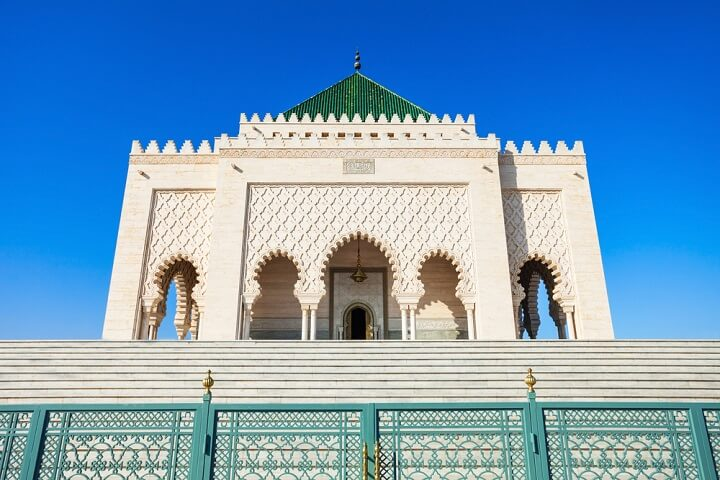 Mausoleum of Mohammed V in rabat - morocco