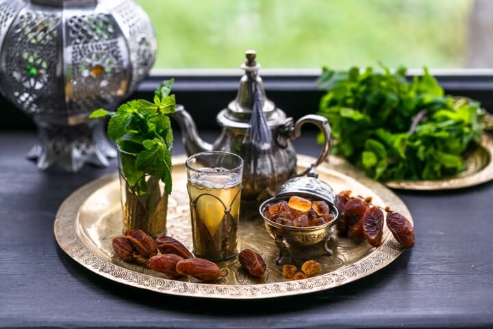 Moroccan tea with mint