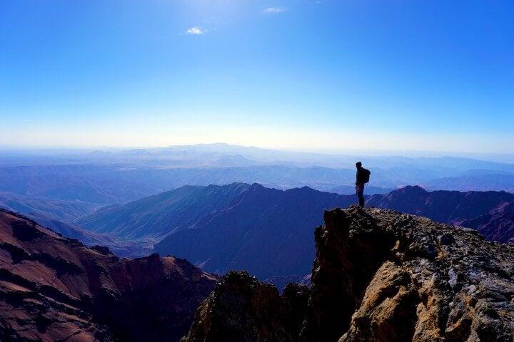 Mount Toubkal in high atlas mountains - morocco