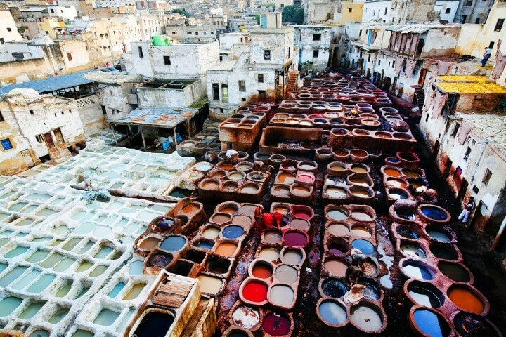 Tanneries VIEW in Fez - morocco