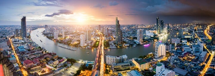 bangkok aerial landscape view