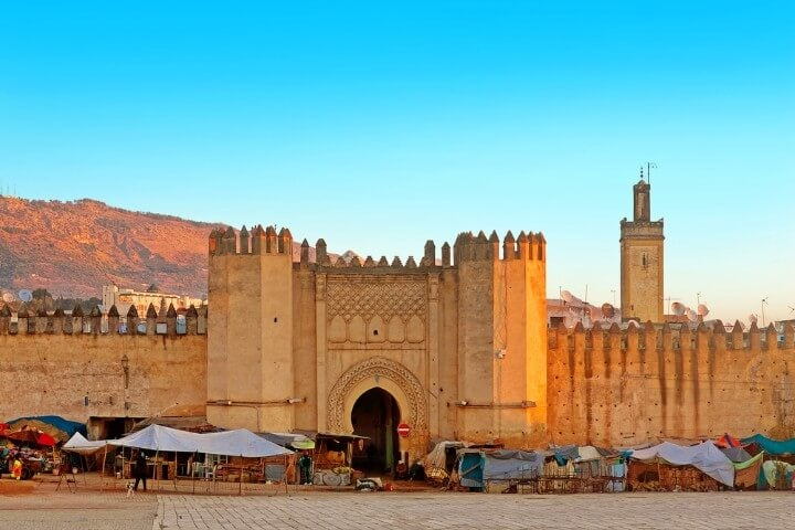 fez medina - Gate to ancient medina of Fez in morocco