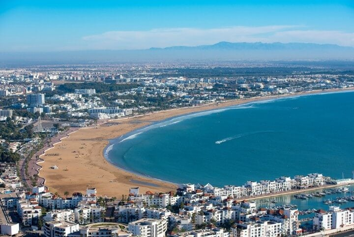 kasbah hill - Panoramic view Agadir in morocco