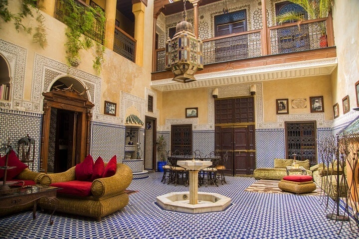 typical riad in marrakech - morocco