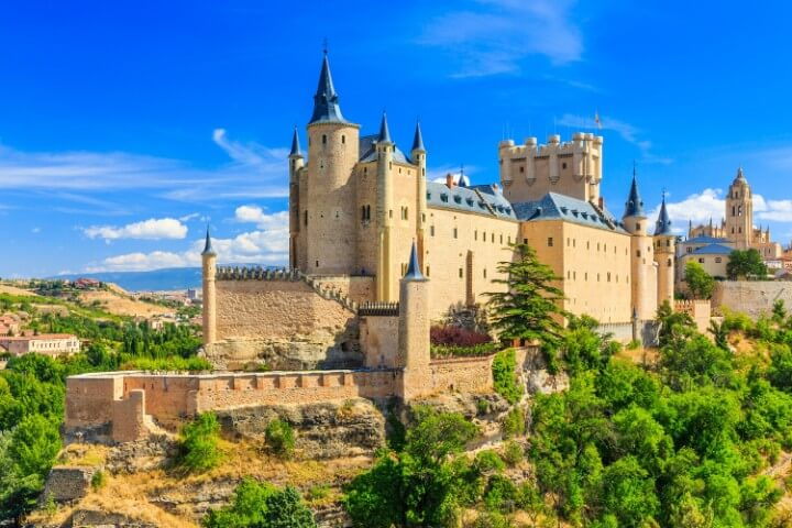 Alcázar de Segovia fortress in spain