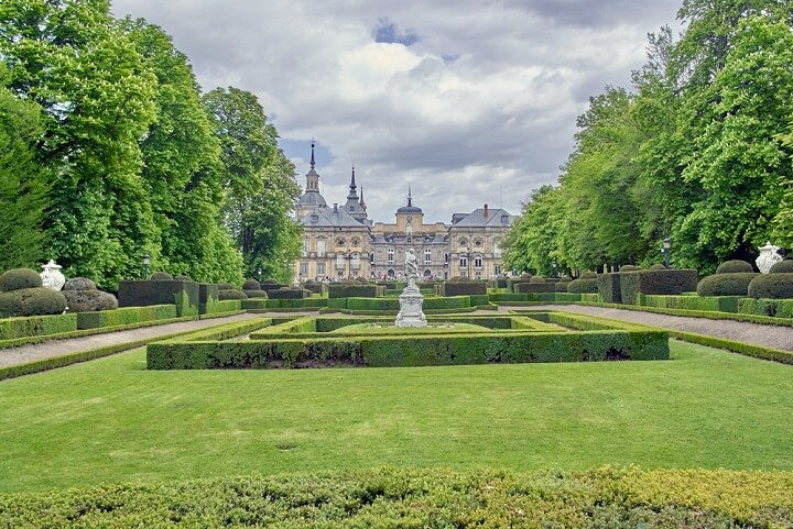 Gardens of the Royal Palace at La Granja de San Ildefonso Segovia - Spain