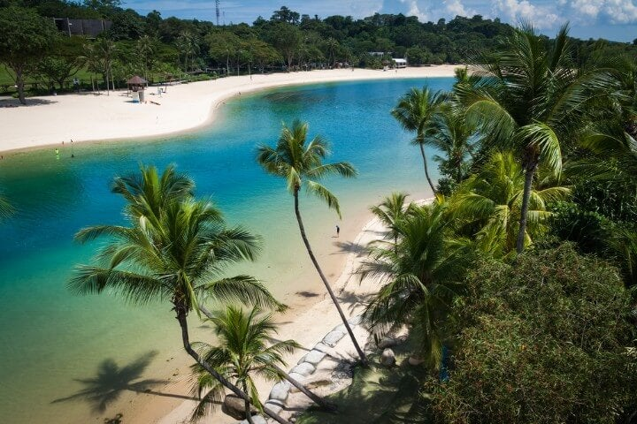 Sentosa Island - palawan beach in singapore