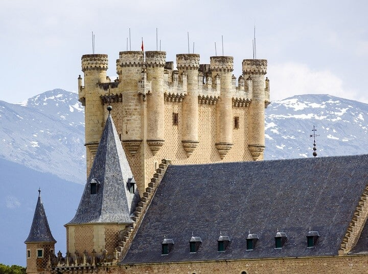 alcazar of segovia tower in spain