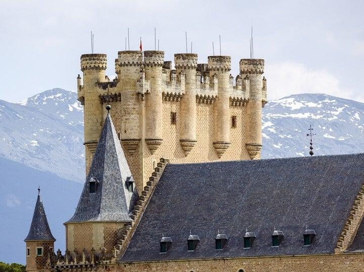 alcazar of segovia tower in spain