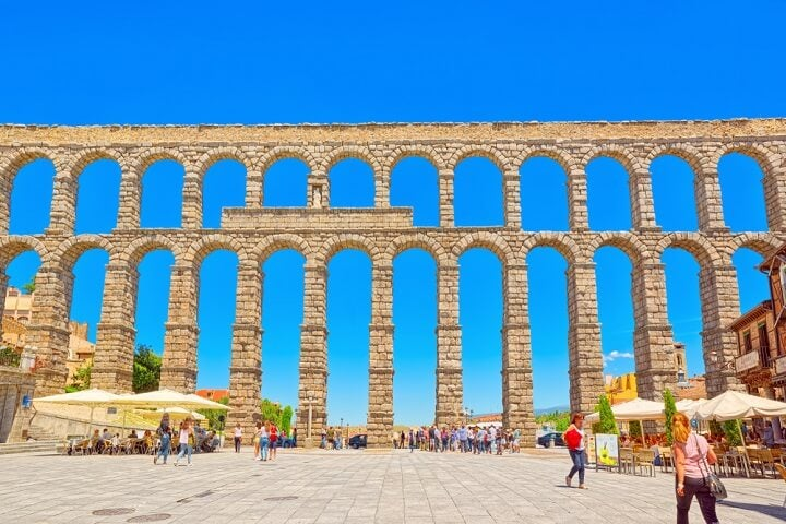 aqueduct of Segovia in spain