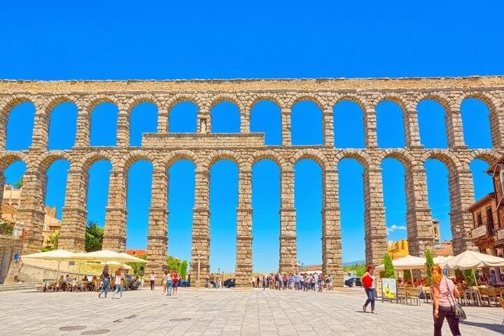 aqueduct of Segovia in spain