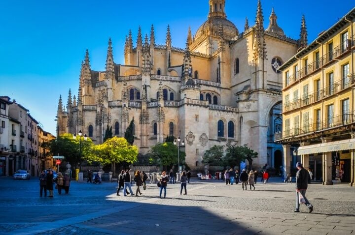 main square - Plaza Mayor - Segovia - Castile and Leon - Spain