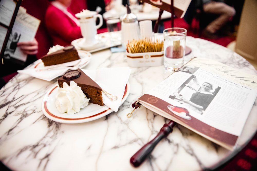 Sacher cake at Hotel Sacher in Vienna