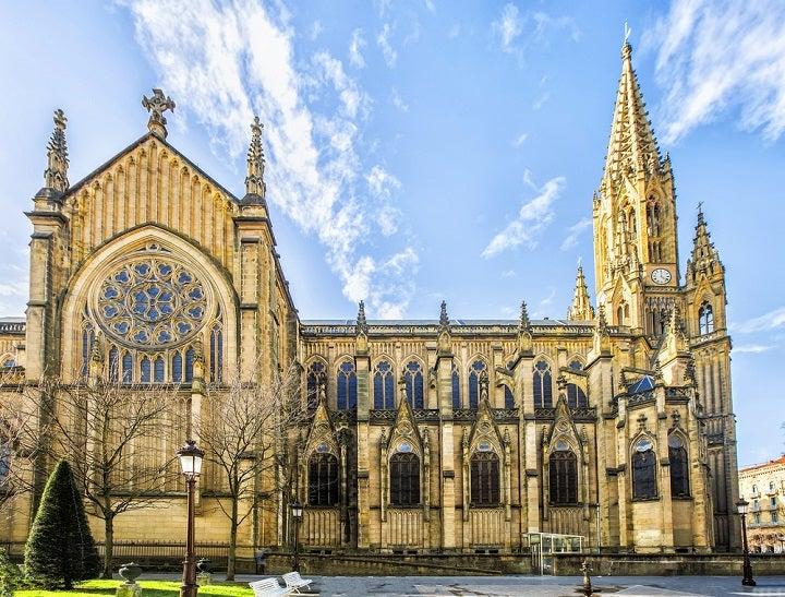 Good Shepherd Cathedral of San Sebastian, San Sebastian, Basque Country, Spain - shutterstock_363073184